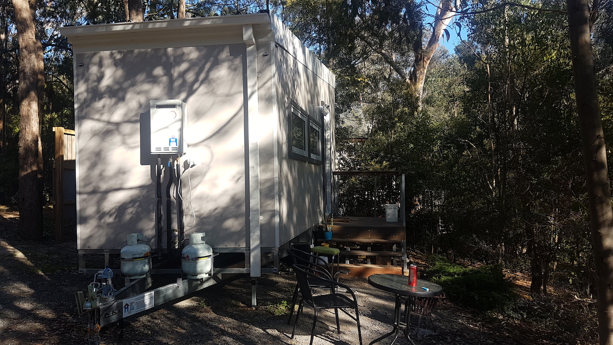 highly mobile, easily relocated tiny home