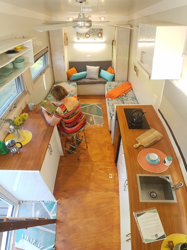 informal meals dining space in tiny home